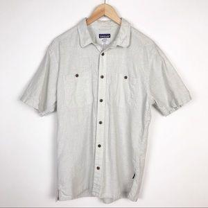 Patagonia Men's Hemp Shortsleeved Button Up Shirt